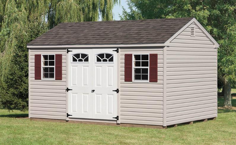 maintenance-free a-frame vinyl shed