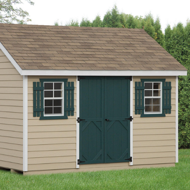 maintenance-free sheds