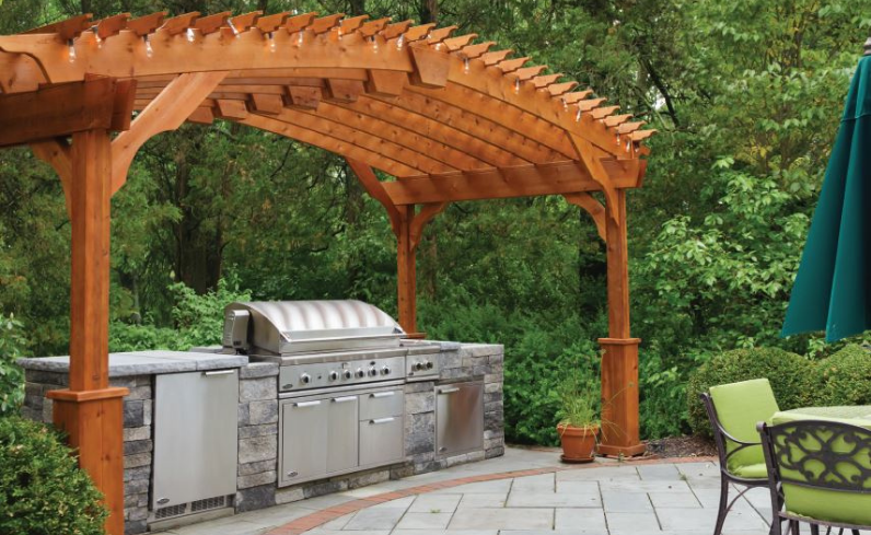 pergola uses for outdoor kitchen