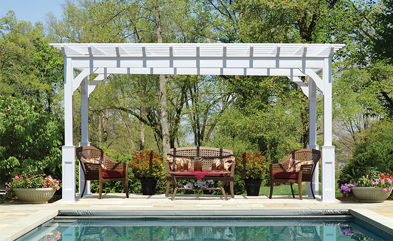 what is a poolside pergola
