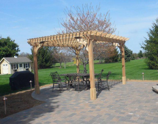 12x14 Standard Cedar Cozy Retreat Pergola MJP