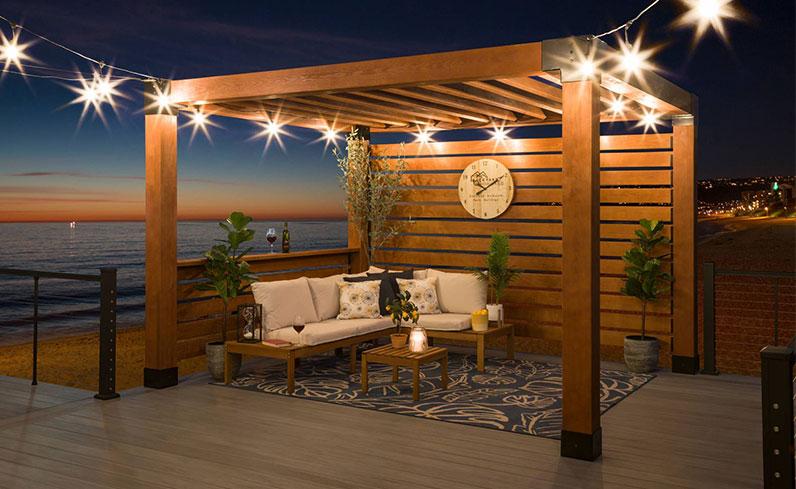 pool patio lighting