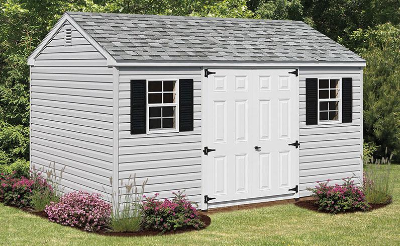 vinyl pool shed