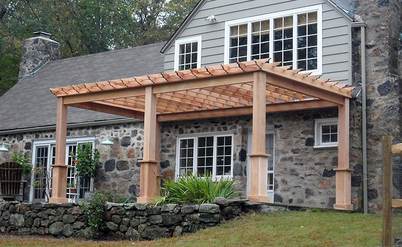 best wood for an outdoor pergola