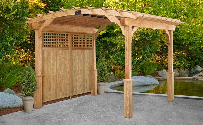 outdoor wood pergola