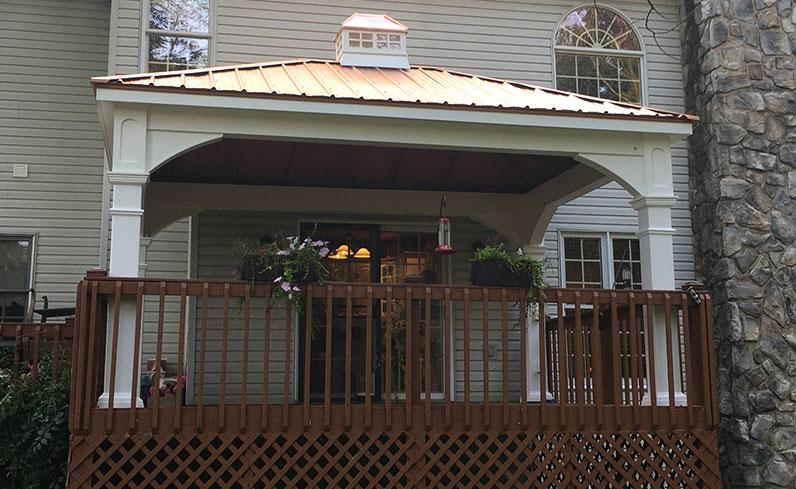 backyard vinyl pavilion cost
