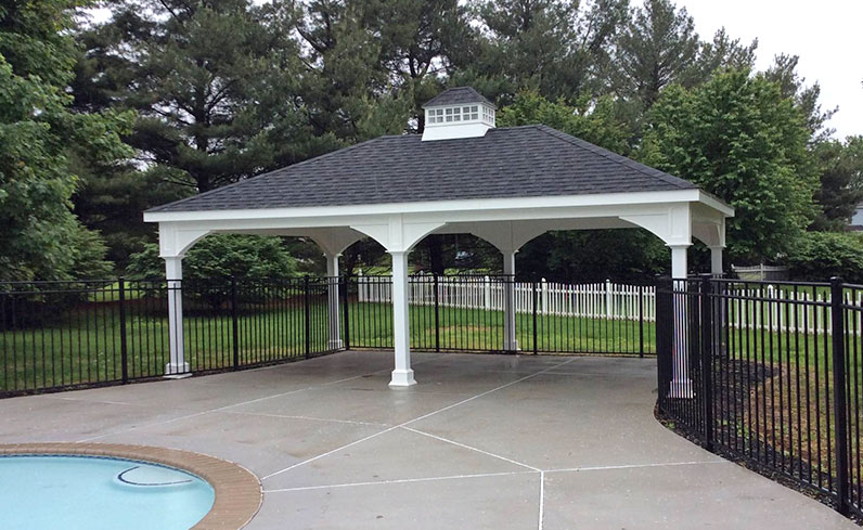 cost of vinyl pavilion with cupola