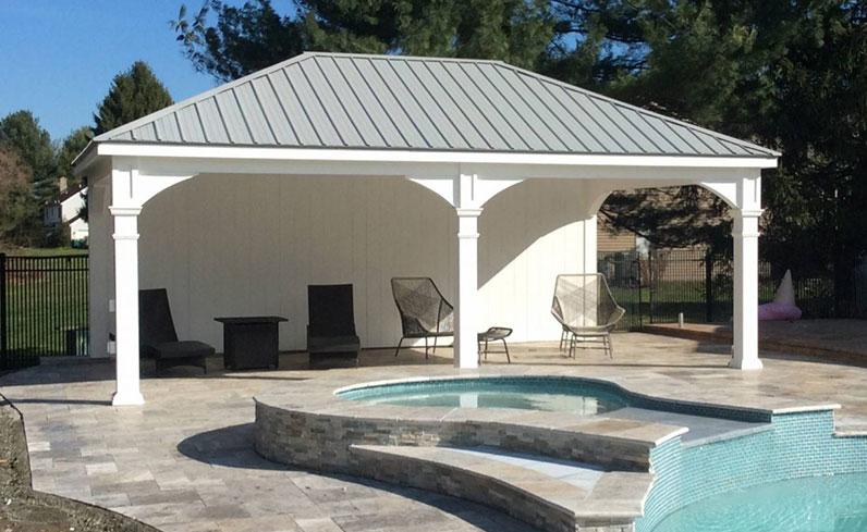 luxury backyard pavilion
