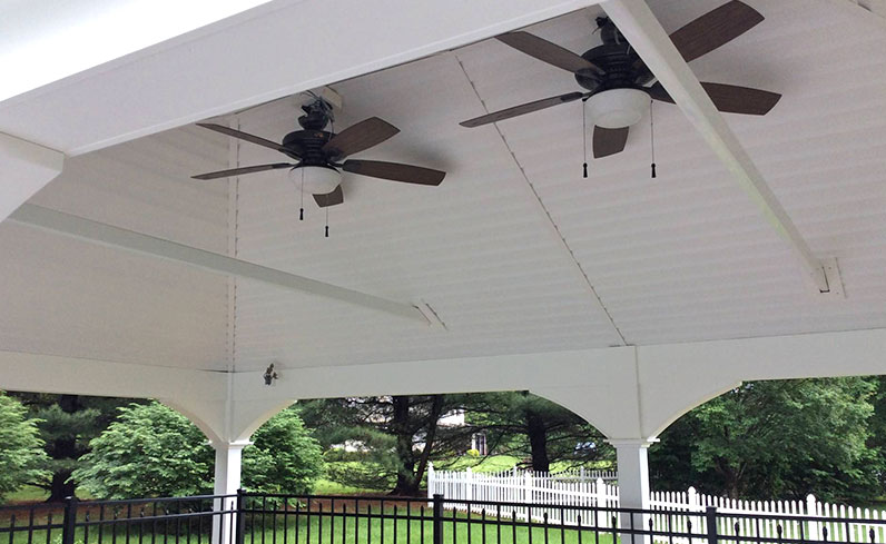 price of pavilion with finished ceiling